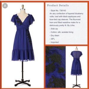 EUC! Anthropologie Lithe Petit Four Dress Size 6